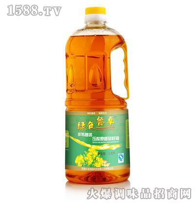 压榨原香菜籽油1.8L-绿色餐桌