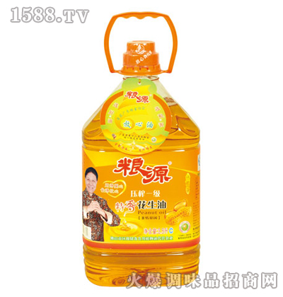 压榨特香花生油3.5L-粮源