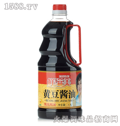 黄豆酱油1.3L-鲜溢美