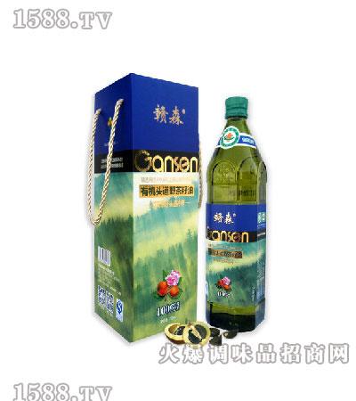 红花有机头道野茶籽油750ml-赣森