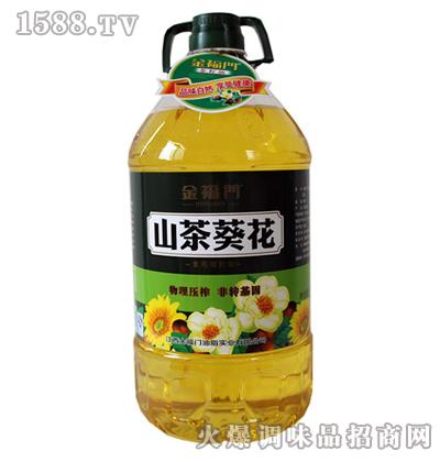 山茶葵花油5L-金福门