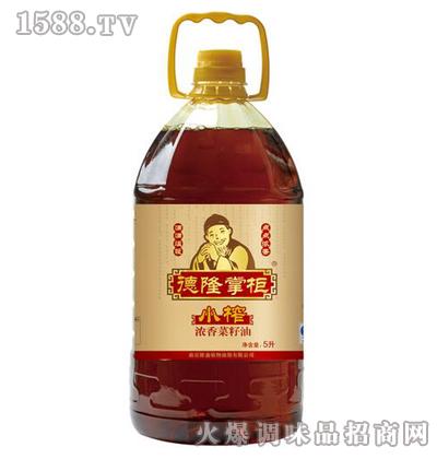 小榨浓香菜籽油5L-德隆掌柜