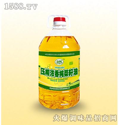 压榨浓香纯菜籽油-延岁