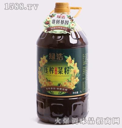 压榨纯正菜籽油5L-绿浩