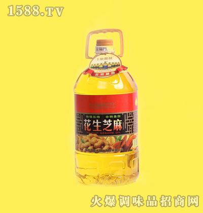 花生芝麻调和油5L-金茶花