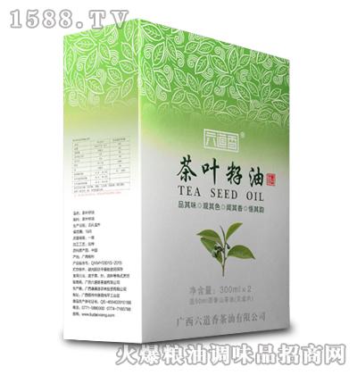 茶叶籽油礼盒300ml(玻璃)X2-六道香