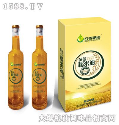 谷香硒海黄金稻米油500mlx2