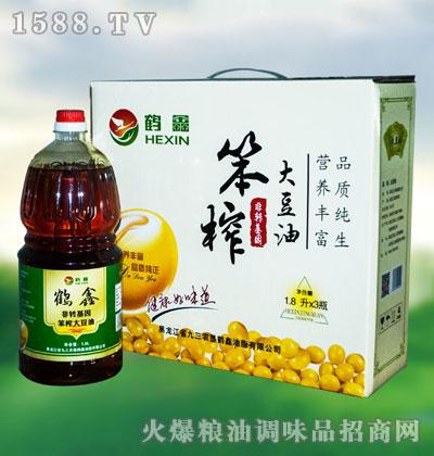 鹤鑫笨榨大豆油1.8Lx3瓶