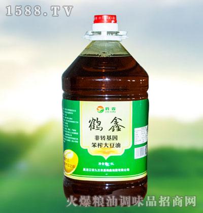 鹤鑫笨榨大豆油5L