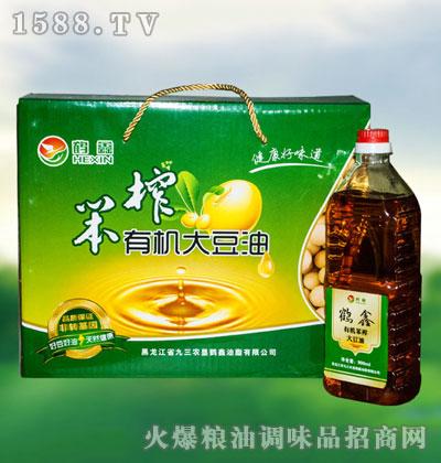 鹤鑫笨榨有机大豆油500ml