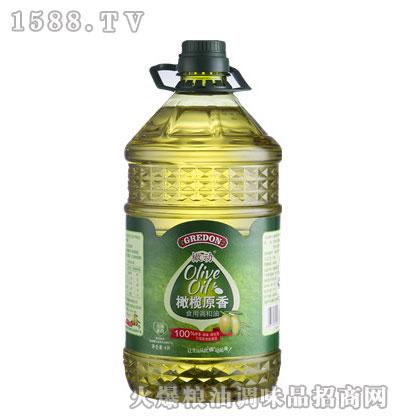 橄动橄榄原香食用调和油4L