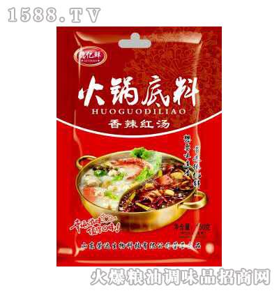 香辣红汤火锅底料150g-德亿鲜