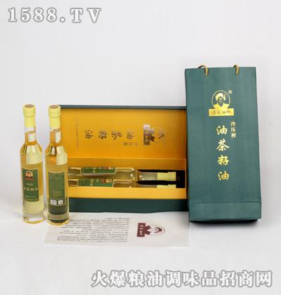 冷压榨油茶籽油精装375mlX2礼盒装-傅家油坊