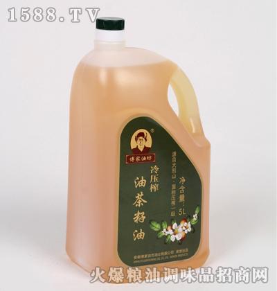 冷压榨油茶籽油5L家庭装-傅家油坊