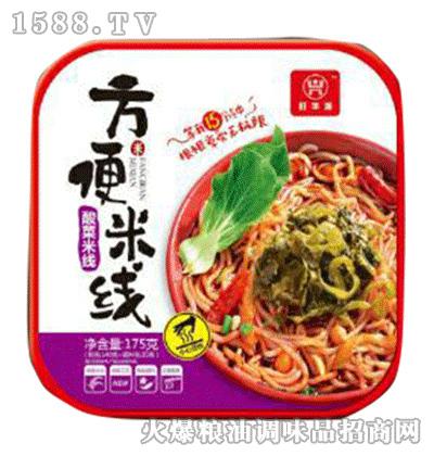 酸菜方便米线方盒175g-旺华派