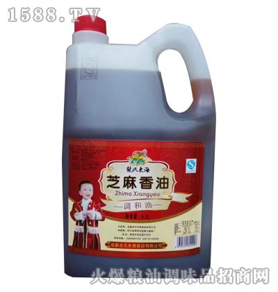 龙氏东海芝麻香油4.5L