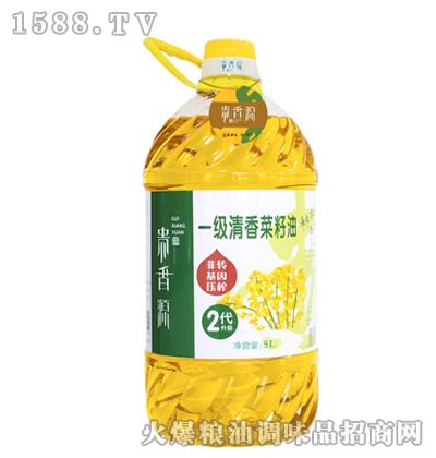 贵香源一级清香菜籽油5L
