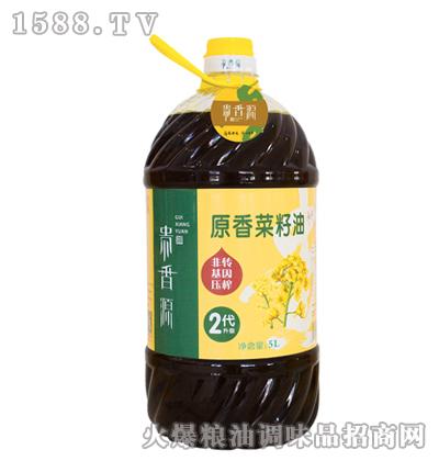 贵香源原香菜籽油5L