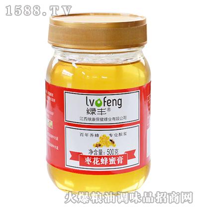 绿丰枣花蜂蜜膏500g