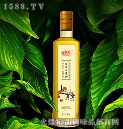 湘纯原香山茶油(玻璃瓶)500mL