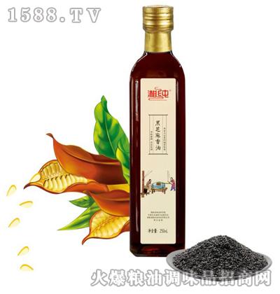 湘纯黑芝麻香油(玻璃瓶)250mL
