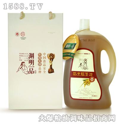 渊明一品稻米胚芽油PE瓶5L