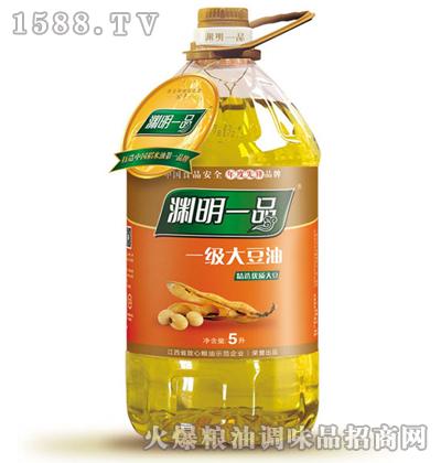 渊明一品一级大豆油5L