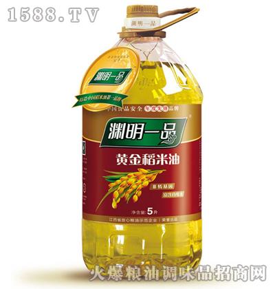 渊明一品黄金稻米油5L