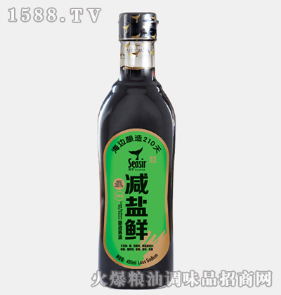 食圣减盐鲜酿造酱油480ml