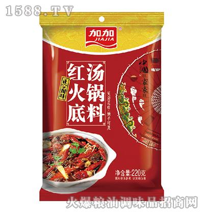 加加红汤火锅底料220g