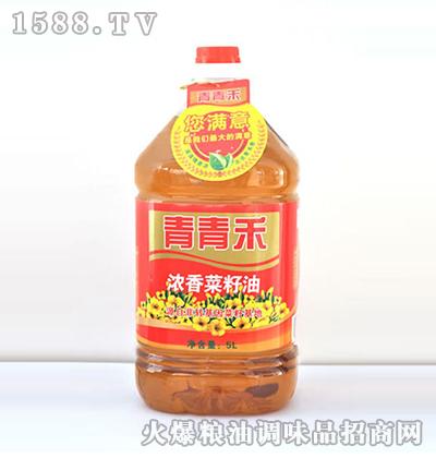 浓香菜籽油5L-青青禾