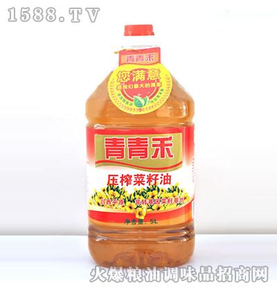 压榨菜籽油5L-青青禾