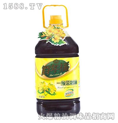 一级菜籽油5L-百年福