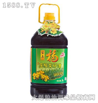压榨菜籽油5L-百年福