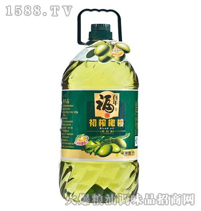 初榨橄榄调和油5L-百年福