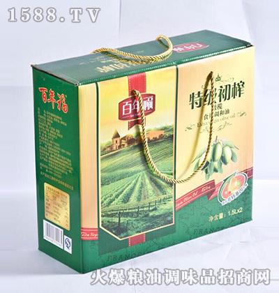 特级初榨橄榄油礼盒-百年福