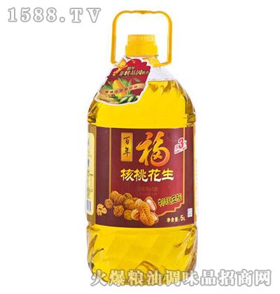 核桃花生调和油5L-百年福
