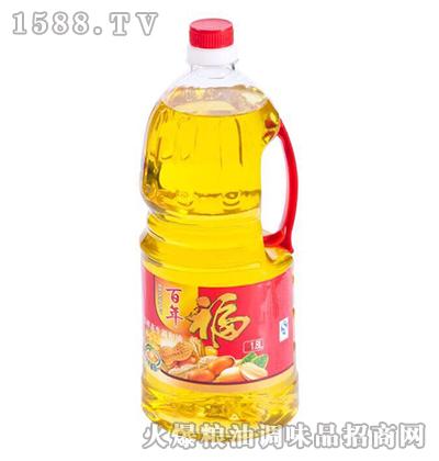压榨花生油调和油1.8L-百年福