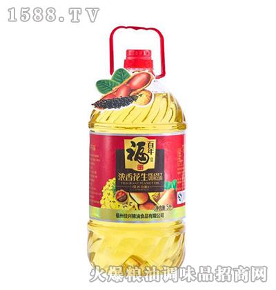 浓香花生调和油5L-百年福