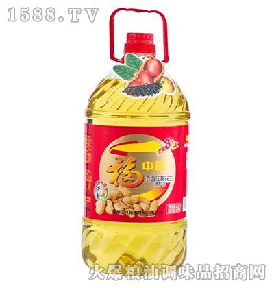 浓香压榨花生油5L-福中旺
