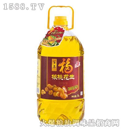 核桃花生油5L-福中旺