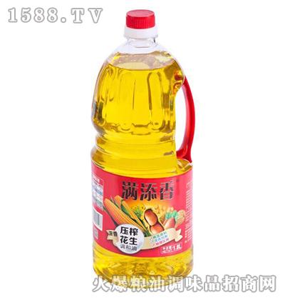 压榨花生调和油1.8L-满添香