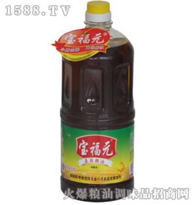小磨压榨亚麻籽油1.8L-宝福元