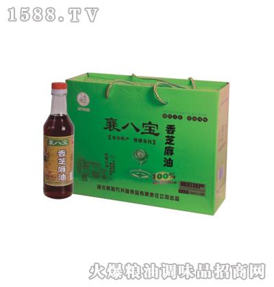 香芝麻油(礼盒)380ml-襄八宝