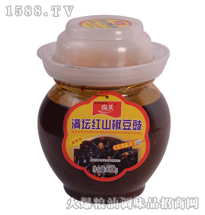 满坛红山椒豆豉850克-农头