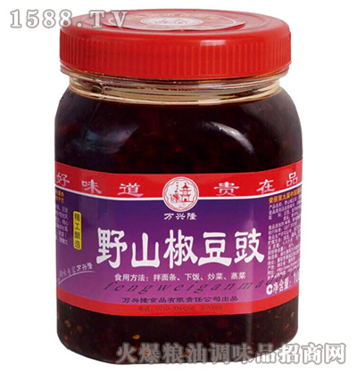 野山椒豆豉(精工酿造)1千克-万兴隆