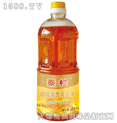 初榨浓香黄豆油2L-秦栏