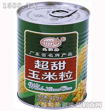 超甜玉米粒(大罐)425g-龙江牌