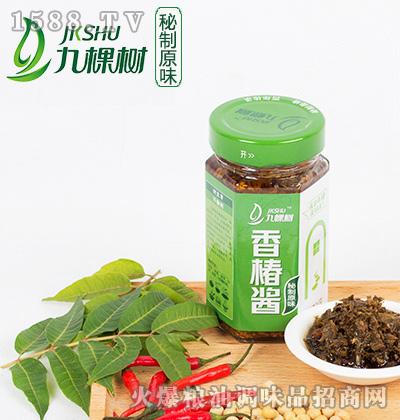 秘制原味香椿酱(六棱瓶)210克-九棵树