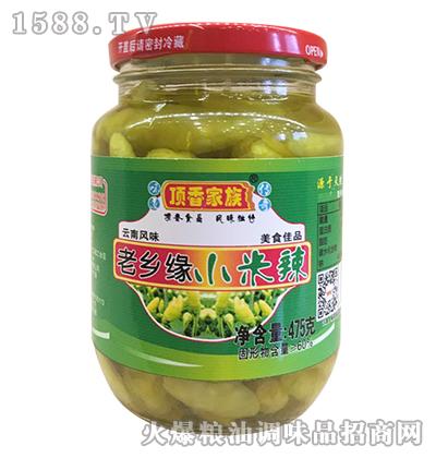 老乡缘小米辣475克-顶香家族_鹤山市共和镇顶香食品商